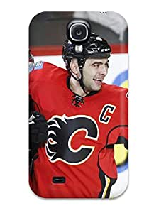 Anti-scratch And Shatterproof Calgary Flames (12) Phone Case For Galaxy S4/ High Quality Tpu Case