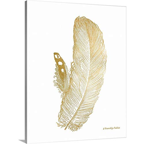 Gallery-Wrapped Canvas Entitled Feather on White I by Gwendolyn Babbitt 29