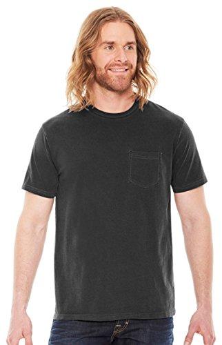 Authentic Pigment Men's Xtrafine Pocket T-Shirt, BLACK, X-Large (T-shirt Authentic 100 Black)