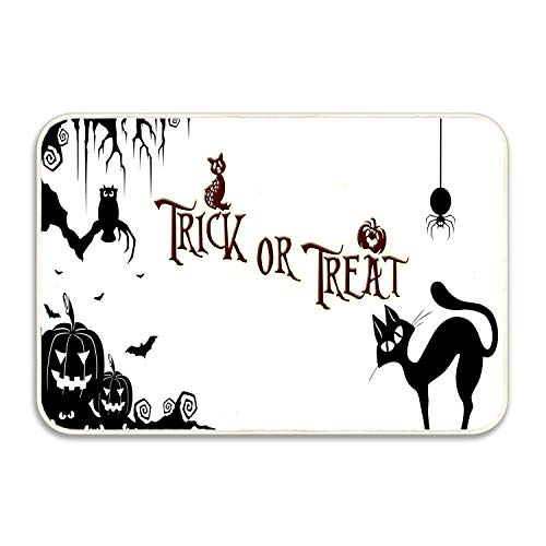 SPEEON Halloween Pumpkin Cat Trick Or Track Absorbent Anti-Slip Mat Indoor/Outdoor Decor Rug Doormat 15.7 X23.6 Inch Home Decor