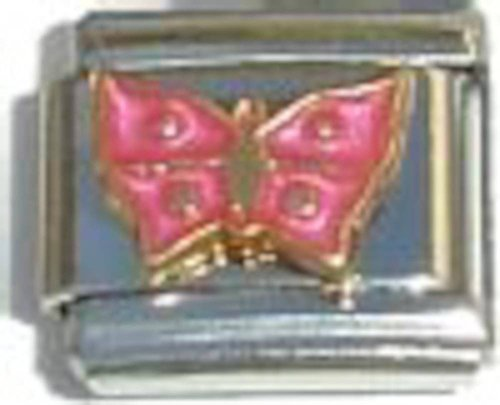 Color Butterfly Italian Charm (Pink Butterfly Italian Charm)