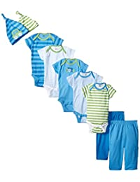 Gerber baby-boys Baby Boys' 9 Piece Seriously Cute Bodysuit, Pant, and Cap Gift Set
