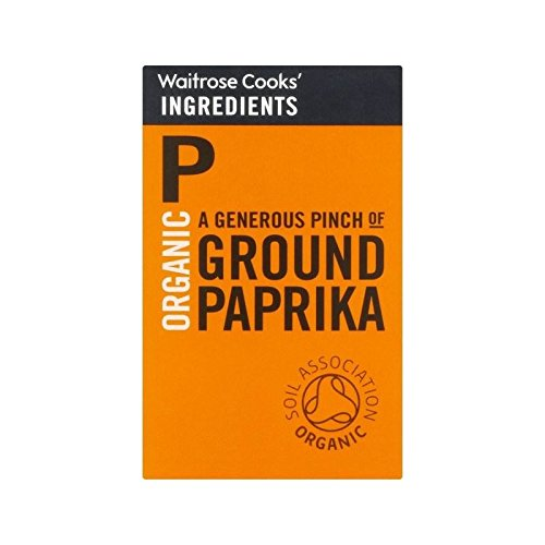 Cooks' Ingredients Organic Paprika Waitrose 42g - Pack of 2