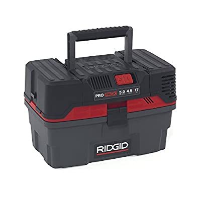 RIDGID 50318 4500RV ProPack Wet Dry Vac, 4.5-Gallon Portable Wet Dry Vacuum with Toolbox Design, 5.0 Peak HP Motor, Expandable Pro Hose, Blower Port: Home Improvement