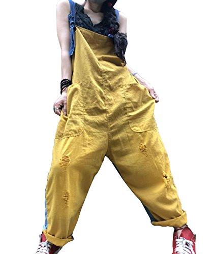 42 L Linen Jeans Yesno Yellow 40 Femme P07 Khaki qwOqEYI