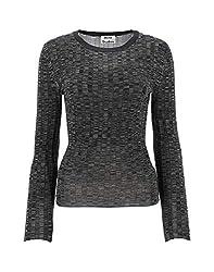 Acne Studios Women S 193176blackgrey Black Viscose Sweater