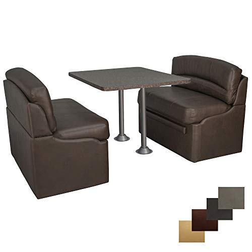 """RecPro 42"""" Dinette Booth Set with Table and Leg, Includes Two Dinette Booths for RV"""