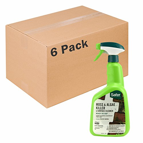 Safer Brand Moss and Algae Surface Cleaner RTU 32oz Spray - 6 pack 5325-6 (Cleaner Acid Patio Brick)