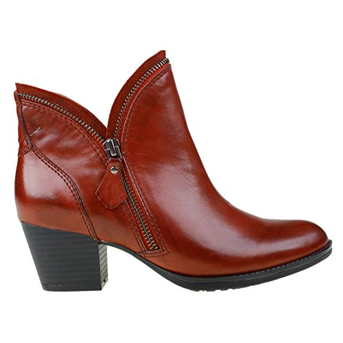 Women's Bordeaux Hawthorne Bootie Earth Calf Leather 748qtCwxd