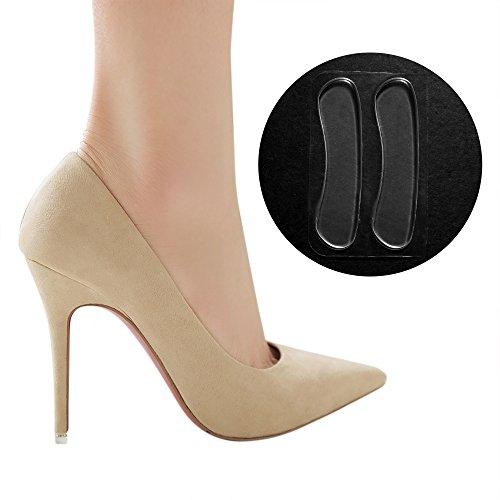 Kloud City 5 Pairs Women's Back Heel Liner Gel Cushion Insert Grip Insole Pad Pain Relieve Anti-Slip (Heel Liners Gel)