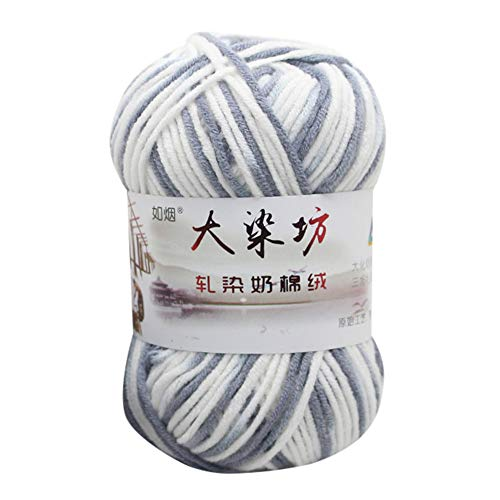 - Fan-Ling Chunky Colorful Hand Knitting Milk Cotton Knitting Yarn, Assorted Colors Smooth Soft DIY Hand Knitting Baby Wool Craft Shawl Scarf Crochet Thread Supplies (W)