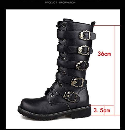 Punk Style , Herren Stiefel Schwarz Schwarz Schwarz Schwarz 39 EU d7a0dd