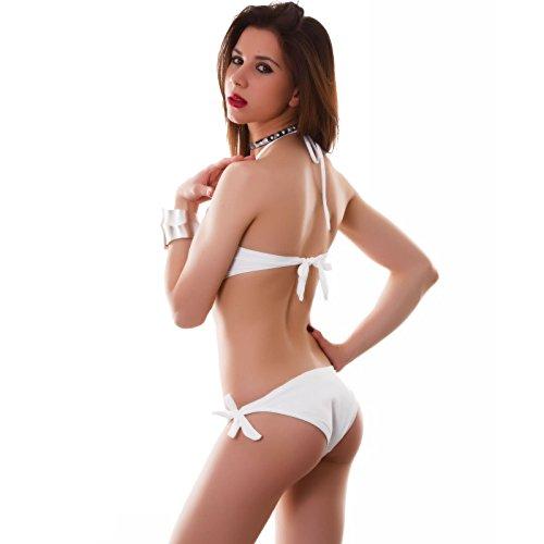 due pezzi gioiello Bianco Bikini Toocool donna da mare costume fascia B1301 nuovo bagno nfRqwH