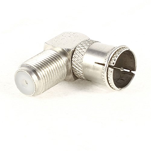 TV Antenna F F/M Adapter Quick Right Angle RF Coaxial Connector