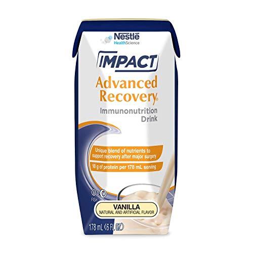 Impact Recovery - Impact Advanced Recovery Immunonutrition Drink, Vanilla, 6 fl oz box, 15 Pack