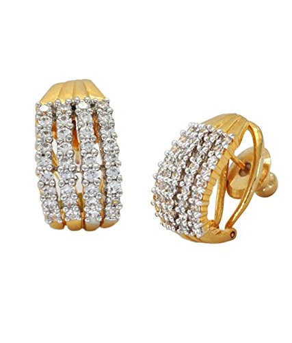 19eb1f734b8 Buy Sitashi Fashion Imitation Jewellery AD Baali Ear Rings for Women and  Girls Online at Low Prices in India