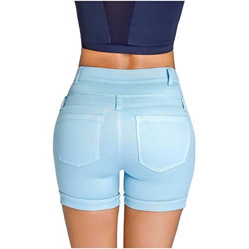 Short 238847 Control,Blue,6 (Butt Shorts)
