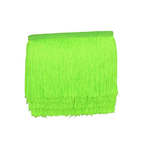 Mangocore 10Yard/Lot 15CM Long Lace Trim Color Polyester Tassel Fringe Trimming For Diy Latin Dress Stage Clothes Accessories (Fluorescent -
