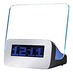 eBoTrade Digital Alarm Clock 4 USB Clock Message Board Memo Board and Highlighter/alarm Clock Blue