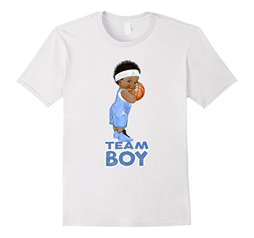 Mens Ethnic Basketball Team Boy Baby Gender Reveal T-Shirt 3XL White