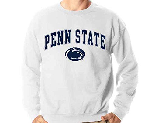 Campus Colors Penn State Nittany Lions Arch & Logo Gameday Crewneck Sweatshirt - White, - State Penn Hoodie