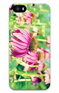 iPhone 5S Customized Unique Print Design Pink Flowers Background iPhone 5 5S Cases 3D
