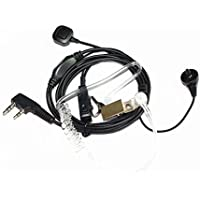 Caroo Covert Acoustic Tube Earpiece Headset Mic With Finger PTT for Kenwood PUXING Baofeng UV-5R UV-5RA 888S H777 RT7 Walkie Talkies
