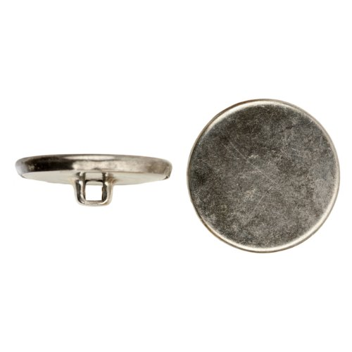 C&C Metal Products Corp 5001 Flat Metal Button, Size 30, Colonial Nickel Finish, 45-Piece by C&C Metal Products Corp (Image #1)