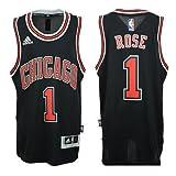 Chicago Bulls Derrick Rose # 1 NBA Youth Big Boys Alternate Swingman Jersey - Black (Large (14/16))