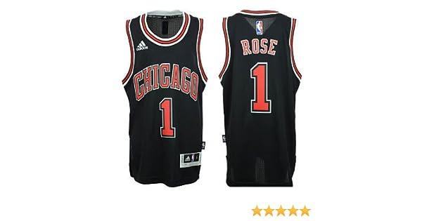 5eb060800ad Chicago Bulls Derrick Rose # 1 NBA Youth Big Boys Alternate Swingman Jersey  - Black (Medium (10/12)), Jerseys - Amazon Canada