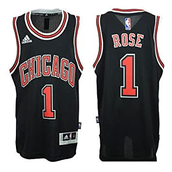 d67f2b79678 Chicago Bulls Derrick Rose   1 NBA Youth Big Boys Alternate Swingman Jersey  - Black (Small (8))