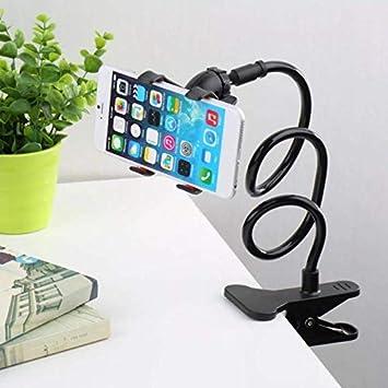 JSG Soporte para Teléfono Móvil 360 ° con Pinzas Ajustable Flexible Cuello de Cisne Soporte Universal Soporte para iPhone Smartphone (Negro): Amazon.es: Electrónica