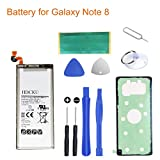 HDCKU Battery Replacement Kit Compatible for Model Galaxy Note 8 N950 EB-BN950ABE 3300mAh Li-ion Battery with Full Repair Tools Set (365 Days Warranty)