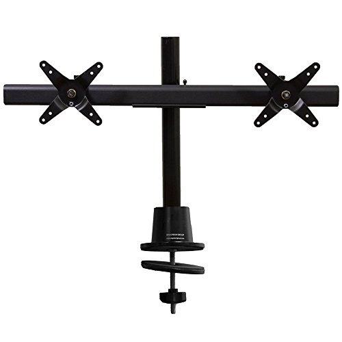 Ergotech Dual Horizontal LCD Monitor Direct Mount on 16-Inch Pole (Dual Lcd Pole)