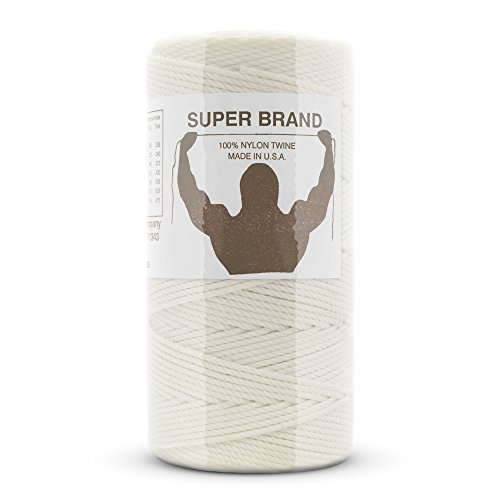 Bonded White Nylon Twine, Twisted. Size #9, 1 lb 1-pack by Super Brand