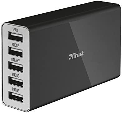 Trust 20014 - Cargador con 5 puertos USB: Amazon.es: Electrónica