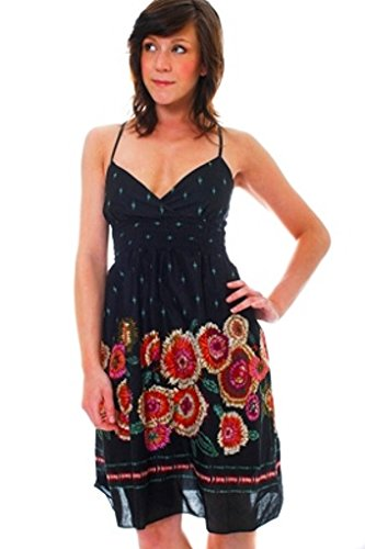 bee182c99d1e Lora Dora Womens Floral Summer Dress Size UK 8-12: Amazon.co.uk: Clothing