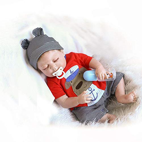 Real Boy Doll - iCradle Full Body Vinyl Silicone Reborn Toddler Doll 18