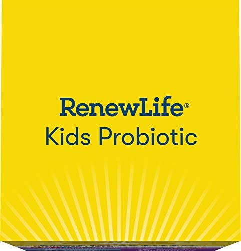 41l4seqFMZL. AC - Renew Life Kids Probiotics 3 Billion CFU Guaranteed, 6 Strains, Shelf Stable, Gluten Dairy & Soy Free, 30 Chewable Tablets, Ultimate Flora Kids Probiotics Berry-licious (Packaging May Vary)