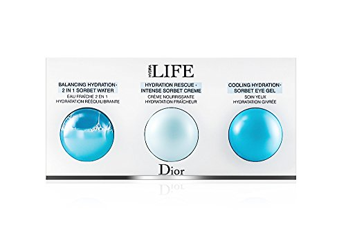 Dior Hydra Life Sorbet Water, Creme, Eye Gel Sampler Collection (Hydra Floral Eye)