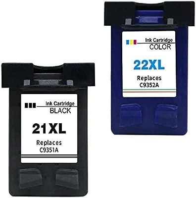 Ink Seller 2 Cartuchos de tinta Compatible para HP 21 XL HP 22 XL Cartuchos de tinta compatibi
