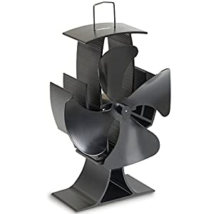 Vonhaus 4 Blade Stove Fan Silent Heat Powered Wood
