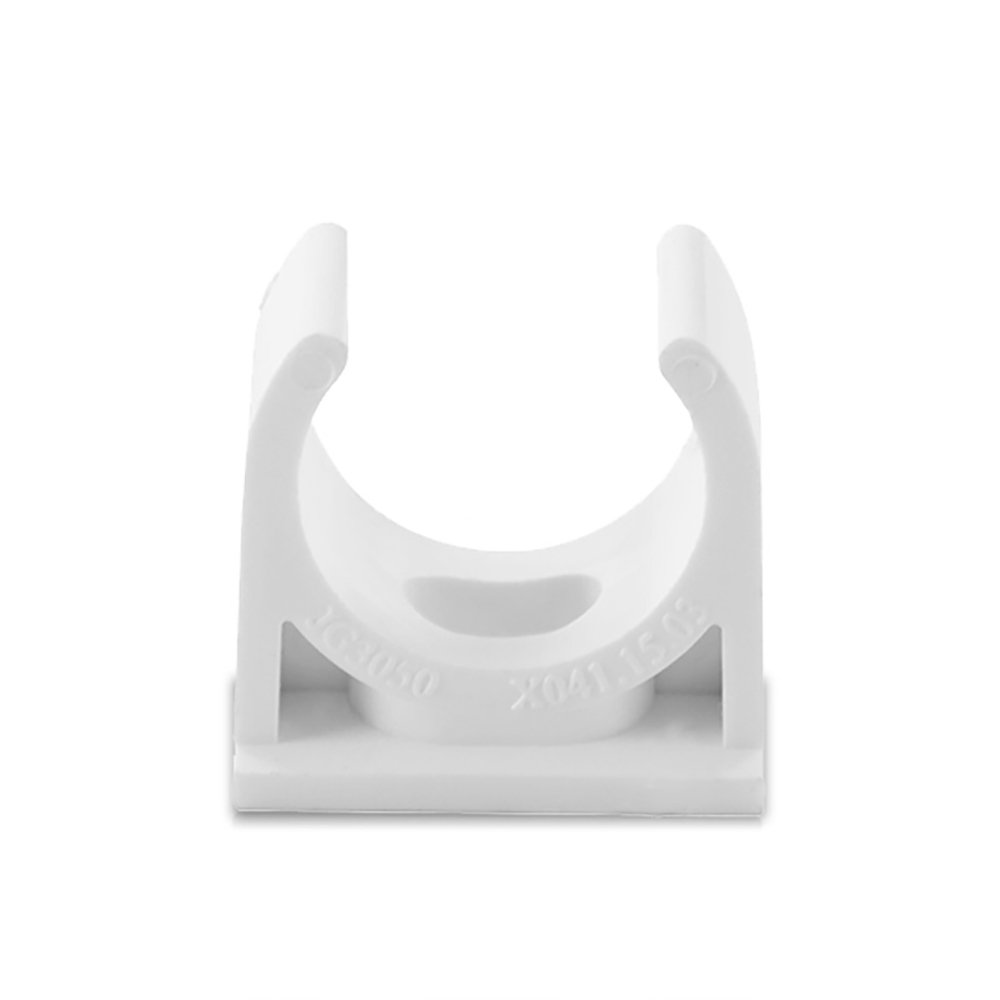 Sinmova 10PCS 20mm U Type Pipe Clamps Tubing Clips Conduit Fittings White