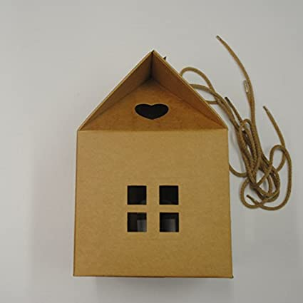 Cardboard Box With Handles House Shaped Box Bag Amazonco