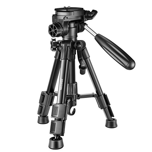 Neewer Mini Travel Tabletop Camera Tripod 24 inches/62 centimeters, Lightweight and Portable Aluminum with 3-Way Swivel Pan Head for DSLR Camera,Smartphones,DV Video up to 11 pounds/5 Kilograms (T210)