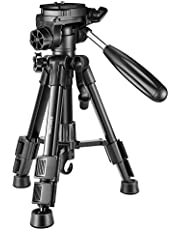 Neewer Mini Travel Tabletop Camera Tripod 24 inches/62 Centimeters, Portable Aluminum with 3-Way Swivel Pan Head for DSLR Camera,Smartphones,DV Video up to 6.6 pounds/3 Kilograms (T210)
