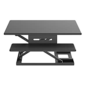 "Standing Desk Converter, Height Adjustable Sit to Stand Up Desk Riser | 32"" Wide Ergonomic Tabletop Sit Stand Desk With Retractable Keyboard Tray For Laptop and Desktop,Black"