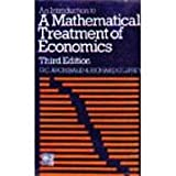 Introduction To A Mathematical Treatment Of Economics 3Rd Edition