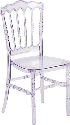 34.5'' Crystal Ice Stacking Napoleon Chair (1 Chair) - FF-Y-1-GG