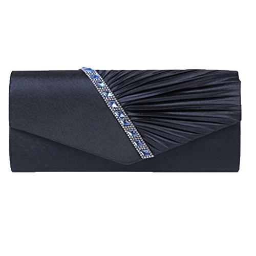 YYwangpu Blue Cadeau Mode Soirée Strass à Bandoulière à De Nouveau Femme La Sac Pour De Pochette Tempéré Sac En Sergé rxArqB